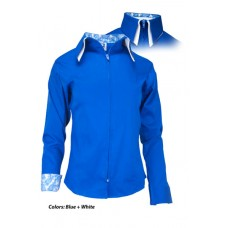 2 Toned Zip Up Show Shirts-68222