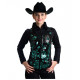 Green Rose Flower Show Vest - V209974