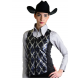 Argyle Pattern Show Vest w/Lycra side Panel - V209977