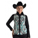 Hand Beaded and Embroidered Turquoise Show Vest - V209980