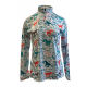 Easy Care Hand Painted Horse Print Sun Shirt - 68548