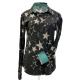 Print Button Easy Care Stars Show Shirt - 68536