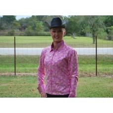 Pink Paisley Show Shirt