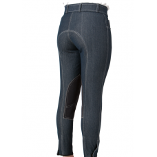 Euro Seat Modified Low Rise Denim Knee Patch Breech -649657