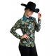 Gold Teal Flower Show Jacket- 209903