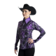 Purple Flower Lycra Show Shirt - 209919