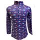 Girl's Easy Care Navy Horse Sun Shirt - 38261