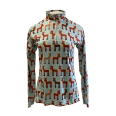 Girl's Easy Care Brown Horse Sun Shirt - 38265