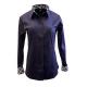 Concealed Zipper w/Button Placket Sateen Lycra Fabric- 68515