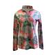 Easy Care Checkered Rose Print Sun Shirt - 68544