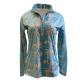 Easy Care Turquoise Ribbon Sun Shirt - 68545