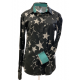 Print Button Easy Care Stars Show Shirt - 68536