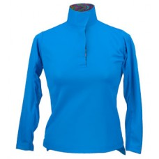 Ice Fill Pull Over with Under Arm Mesh Wrap Collar Shirt - 38235