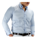 Mens Cool Max Show Shirt with a Stock Tie  Holder